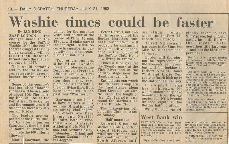 1983 Pre Event Article